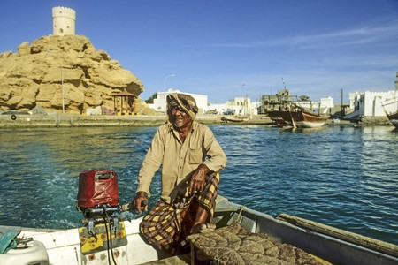 A traditional ferry in Sur, Oman