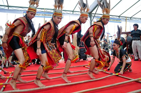 The Murut tribe is known for their skills in the traditional Bamboo dance