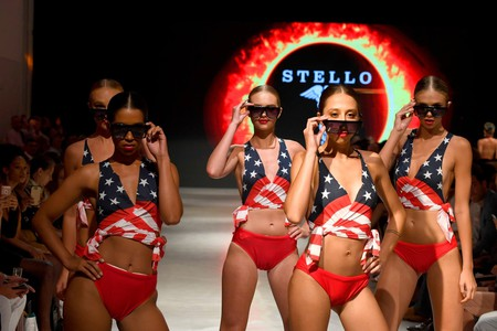 Models on the catwalk at STELLO for Miami Swim Week