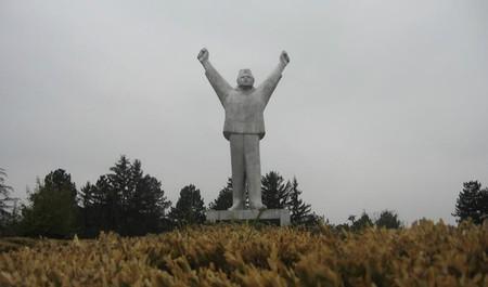 The Stjepan Filipović monument stands defiantly above Valjevo