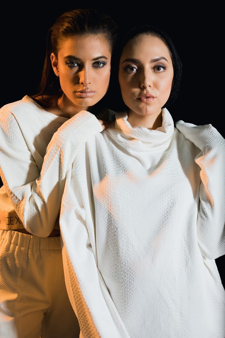 Safiya (right) is one of the top UAE-based fashion designers
