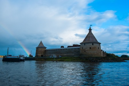 Shlisselburg Fortress is located on an island