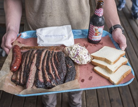 Lunch tray at Franklin BBQ, Austin, Texas