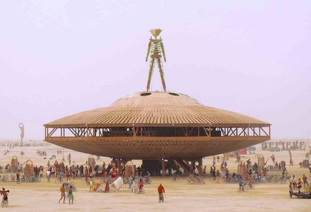 The Man is the focal effigy at the Burning Man festival