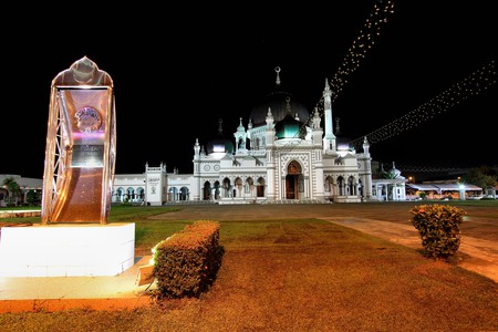 Zahir Mosque on the night