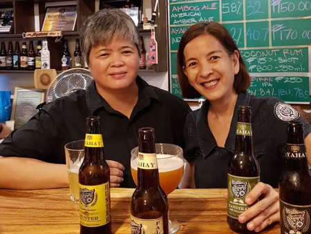 The 'first female craft beer brewers' in the Philippines and women behind Palaweño Brewery, Ayah Javier and Malu Lauengco