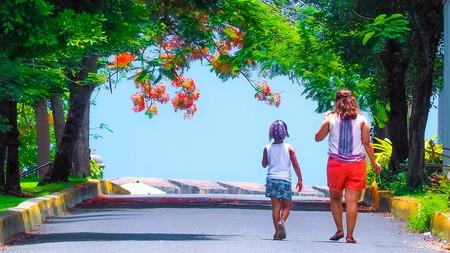 Walking down Caleta de las Monjas (Cove of Nuns) in Old San Juan, Puerto Rico