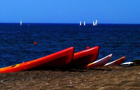 Kayaking at Skala Eressos, Lesvos