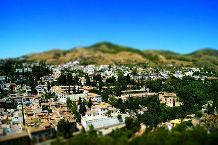 Albaicin, Granada's old Moorish quarter, as seen from the Alhambra
