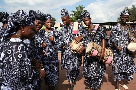 Yoruba drummers and dancers