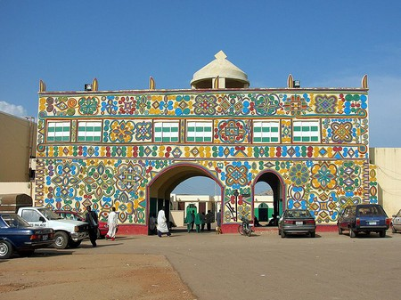 The New Gate to the palace of the Emir of Zaria in northern Nigeria