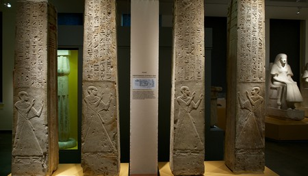 Four pillars found in the Tomb of Ptahmes.