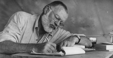 Hemingway writing in Kenya