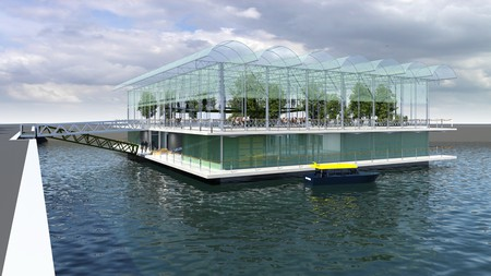 An artist's impression of the Floating Farm