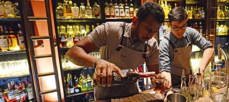 The 28 Hong Kong street cocktail bar in Singapore.