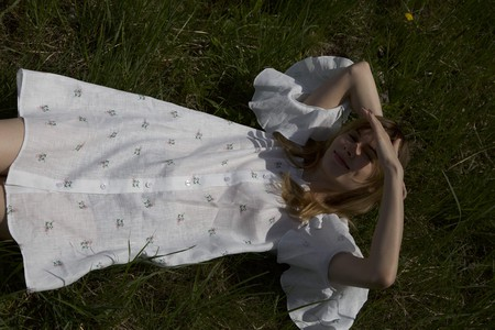 Daily Sleeper, Jane Flower Print Mini Dress