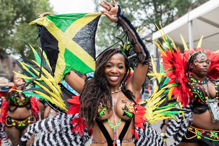 A performer at Notting Hill Carnival