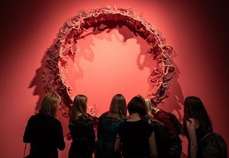 Installation view of Mithu Sen's 'Border Unseen' (2018) at Kunstmuseum Wolfsburg