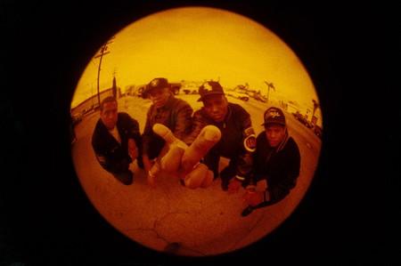 US hip hop group NWA (Niggas With Attitude) USA 1990s