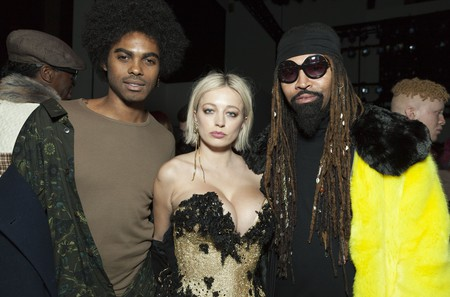 Sean Michael Frazier, Caroline Vreeland and Ty Hunter at The Blonds fall/winter 2018 show, New York Fashion Week