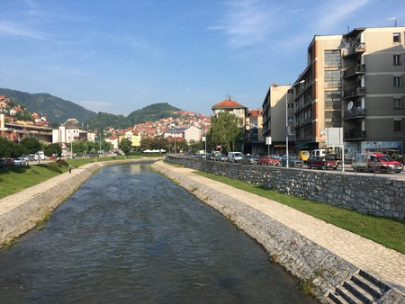 Relax along the river in Užice