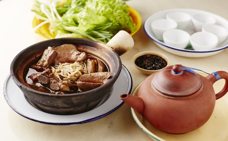 Malaysian stew of pork and herbal soup