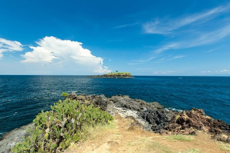 Bukit Asah hill cliff in Bali Indonesia.