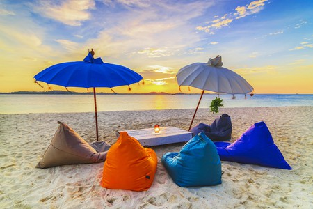Lounge Chair in sunset
