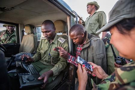 Ranger anti-poaching unit at the Mara Conservancy at Maasai Mara National Reserve, Kenya