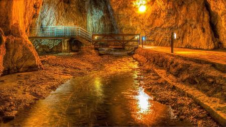 Beautiful Stopića Cave, Serbia