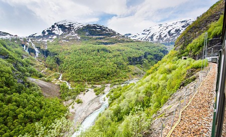 The Flåm valley is ideal for ziplining