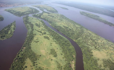Aerial view of the Congo Basin