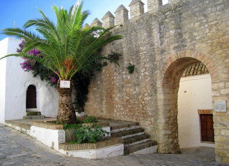 An arched entrance to the old town of Vejer de la Frontera, just a 45-minute drive from Tarifa