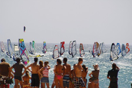 Windsurfers in Tarifa, Spain