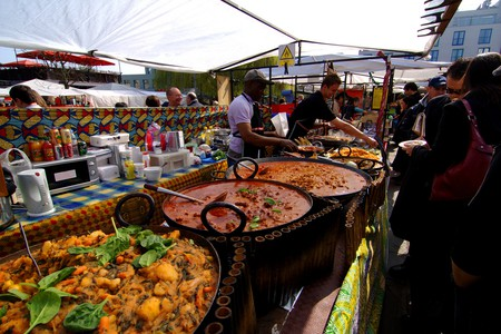 West African food stall in Camden