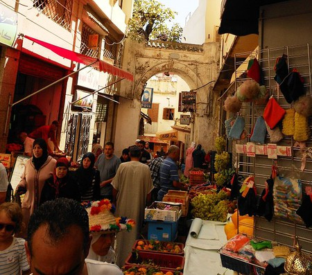 A market stall in the old part of Tangier, which can be reached by a 35-minute ferry ride from Tarifa