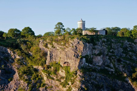 Observatory and caves of Clifton in Bristol