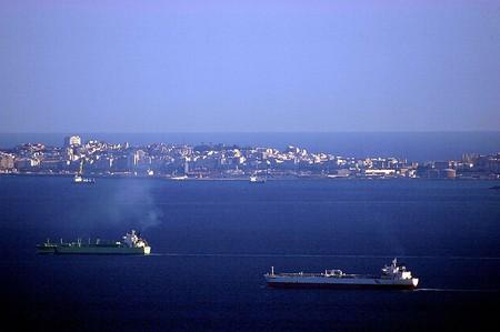 Cueta, one of Spain's north African enclaves, as seen from the Mirador del Estrecho