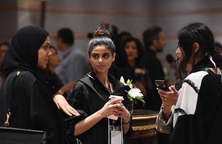 Women at the Saudi Fashion Week, held at Ritz Carlton in Riyadh in April 2018