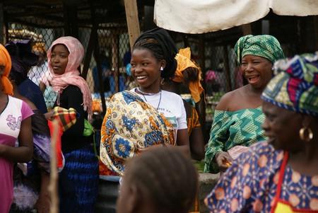 Gambian women in the marketplace