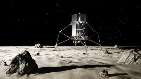 What the ispace lunar lander will look like on the moon's surface