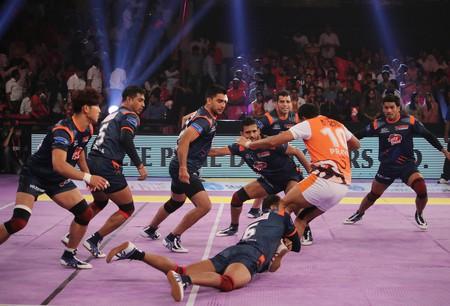 Pro Kabaddi League at Sawai Mansingh Indoor stadium, Jaipur, India