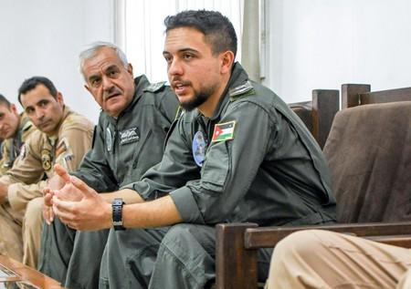 Prince Hussein of Jordan visits Muwaffaq Salti Airbase in 2018