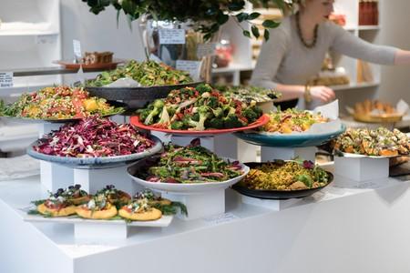Yotam Ottolenghi's eponymous delis offer colourful Israeli salads