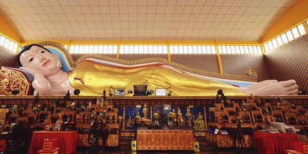 The third-longest Buddha statue in the world