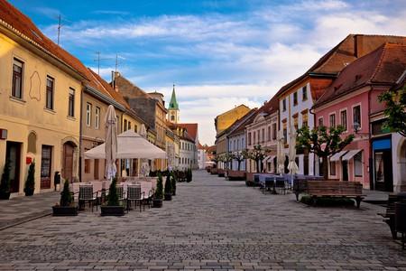 Baroque town of Varazdin, northern Croatia.