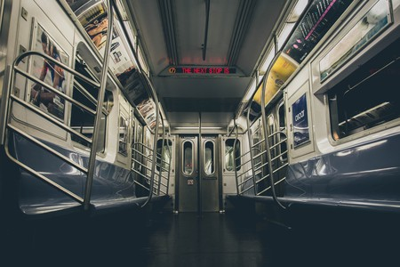 New York's subway system is one of the largest in the world.