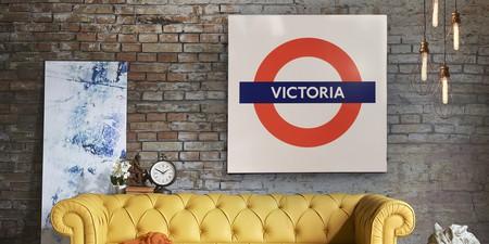 Victoria Roundel Underground Station Sign