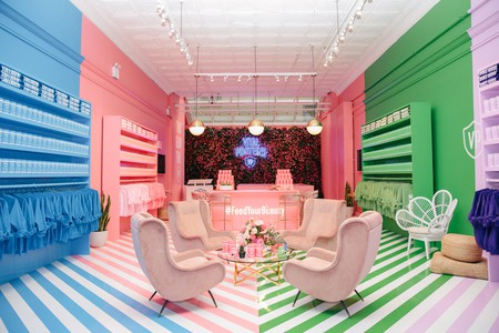 The Instagram-worthy interior of Vital Proteins' pop-up store is inspired by its colorful packaging