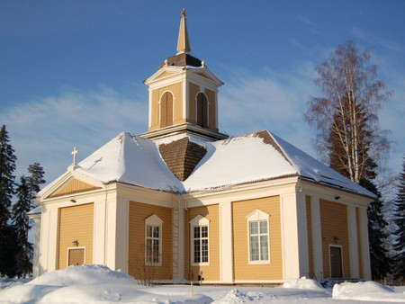 Ylikiiminki Church is just one of many churches in the Finnish bible belt